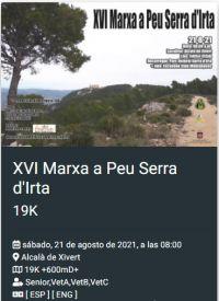MARXA A PEU SERRA D'IRTA 21/08/2021